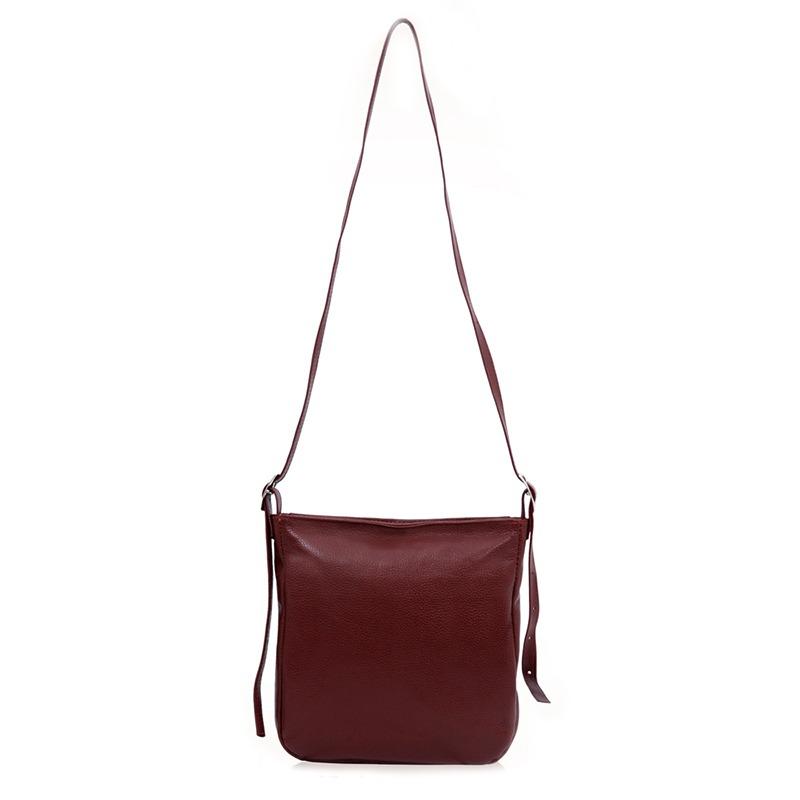 314086708 Bolsa Pequena Tiracolo de couro legítimo • Ref. 334 Vermelha – Couribi